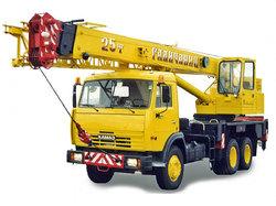 Автокран грузоподъемностью 25 тонн стрела 21 метр